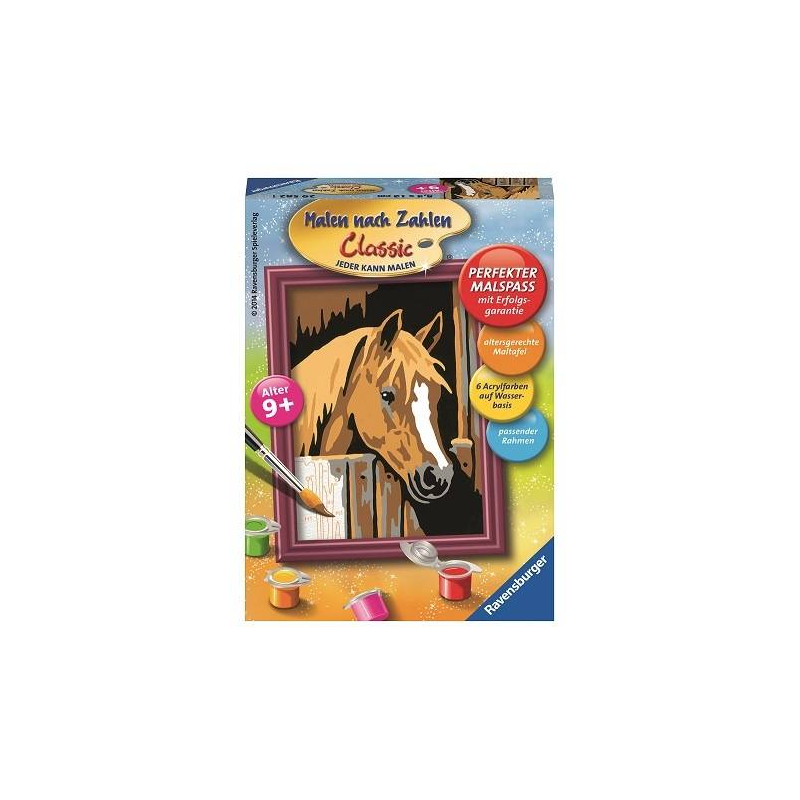 RAVENSBURGER Картина по номерам Лошадь в стойле 22cm 9 miku hatsune figure cheerful ver figma anime action toy figure miku doll model