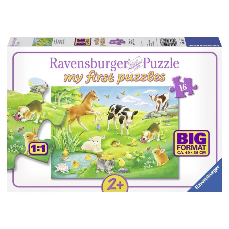 RAVENSBURGER Пазл Малыши животных на лугу 16 деталей