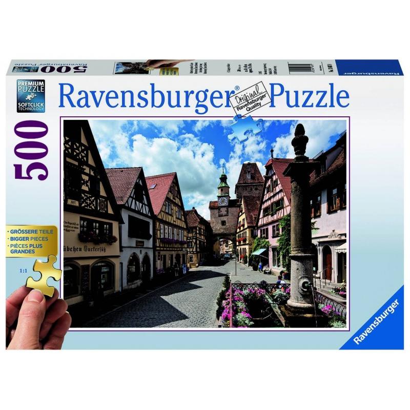 Пазл РотенбургПазл Ротенбург маркиRavensburger.<br>Яркий пазл из 500 элементов с изображением красивого пейзажа.<br><br>Возраст от: 12 лет<br>Пол: Не указан<br>Артикул: 653826<br>Бренд: Германия<br>Размер: от 12 лет