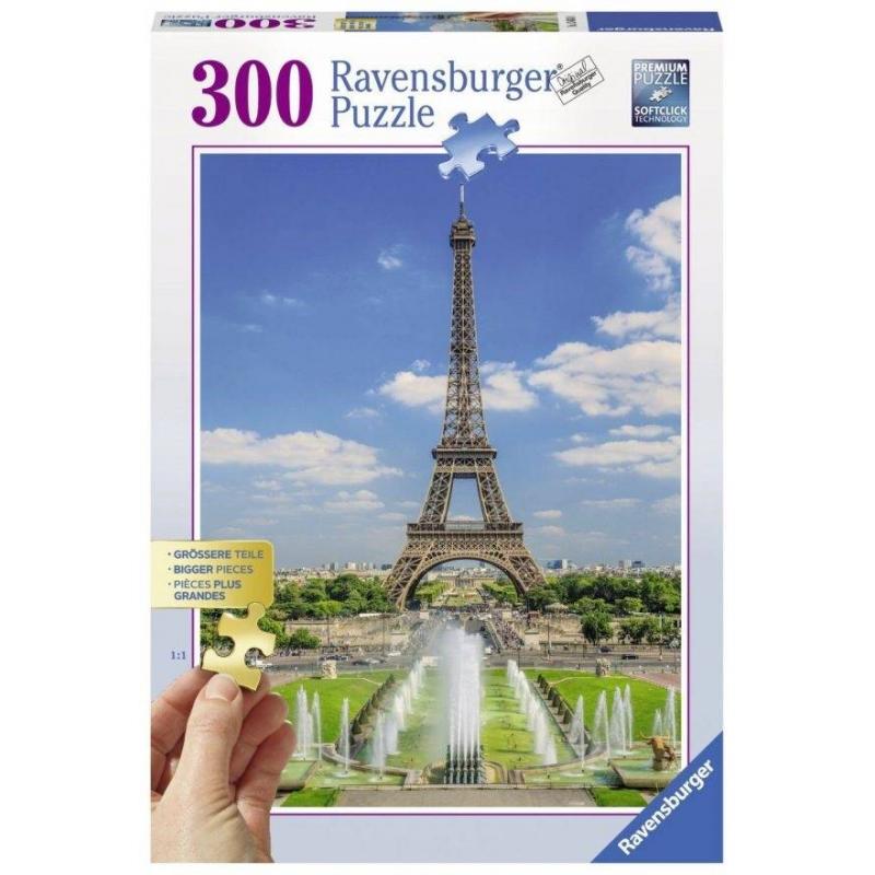 Пазл Вид на Эйфелеву башню 300 деталейПазл Вид на Эйфелеву башню маркиRavensburger.<br>Яркий пазл из 300 элементов с изображением красивого пейзажа.<br><br>Возраст от: 9 лет<br>Пол: Не указан<br>Артикул: 653827<br>Бренд: Германия<br>Размер: от 9 лет<br>Количество деталей: от 201 до 300<br>Тематика: Достопримечательности