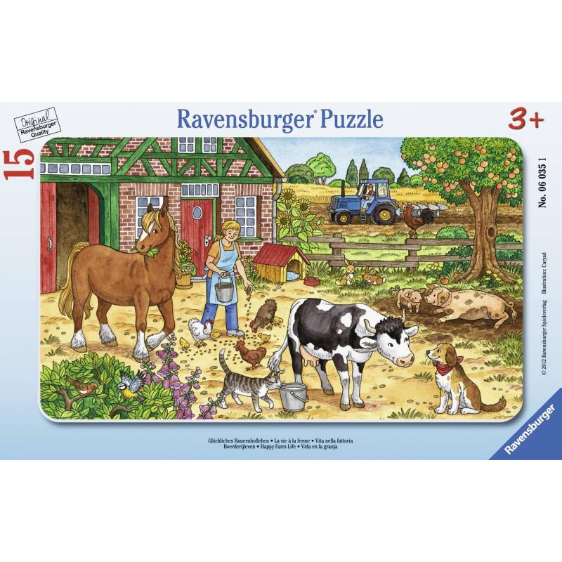 RAVENSBURGER Пазл Жизнь на ферме 15 деталей евгения шульдякова наферме родители и
