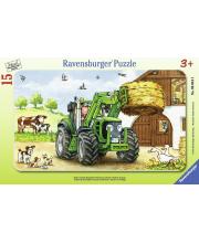 Пазл Трактор на ферме