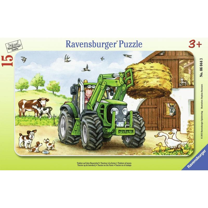 Пазл Трактор на ферме 15 деталей