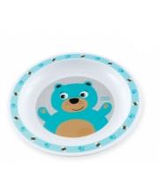 Тарелка пластиковая Smile 12м мишка Canpol Babies