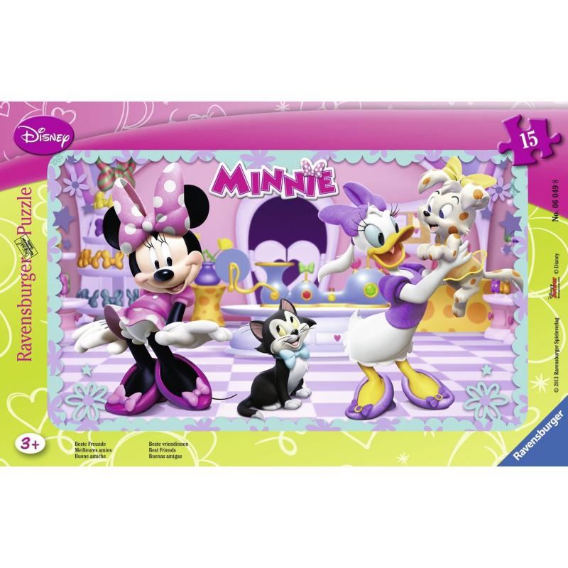 Пазл Минни МаусПазл Минни Маус марки Ravensburger для девочек.<br>Включает 15элементов.<br>Размер картинки: 25х14,5 см.<br><br>Возраст от: 3 года<br>Пол: Для девочки<br>Артикул: 653635<br>Бренд: Германия<br>Лицензия: Disney<br>Размер: от 3 лет