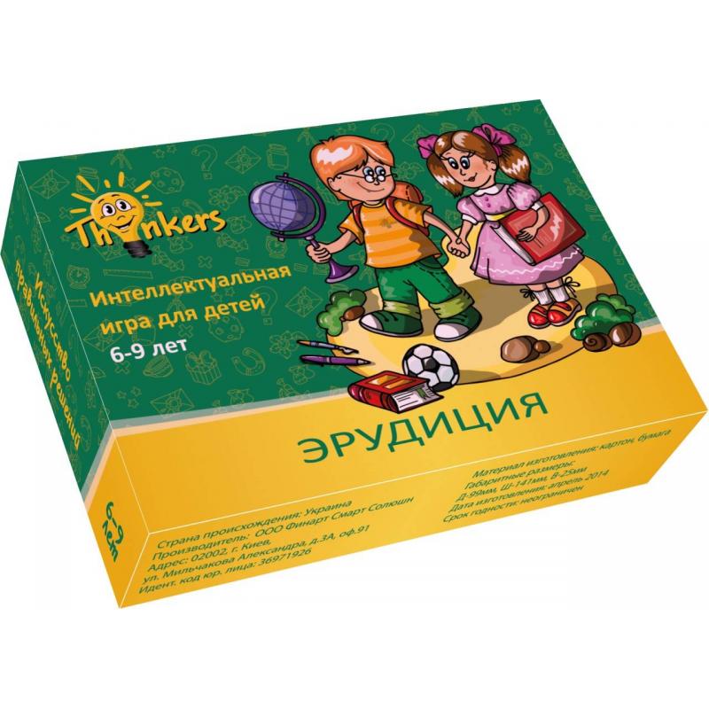 Купить Логическая игра Эрудиция, Thinkers, от 6 лет, Не указан, 658122