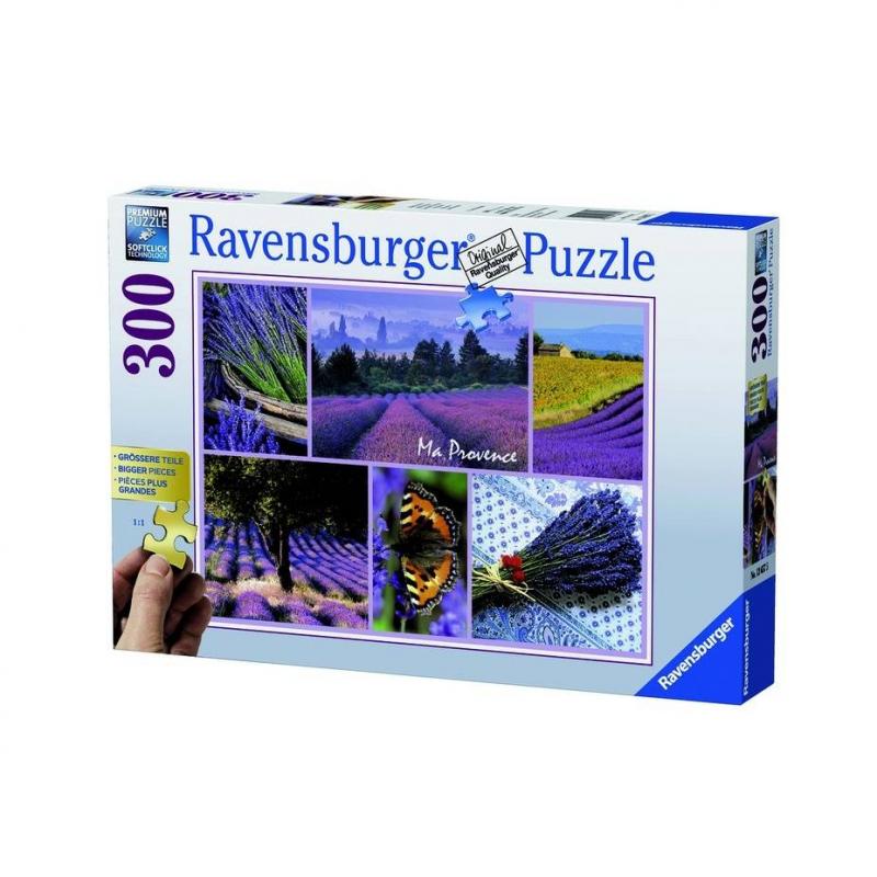 Пазл Мой ПровансПазл Мой Прованс марки Ravensburger для девочек.<br>Яркий пазл из300 элементов с изображениемкрасивого пейзажа.<br><br>Возраст от: 9 лет<br>Пол: Для девочки<br>Артикул: 653837<br>Бренд: Германия<br>Размер: от 9 лет
