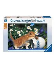Пазл Любопытный котенок 500 деталей RAVENSBURGER