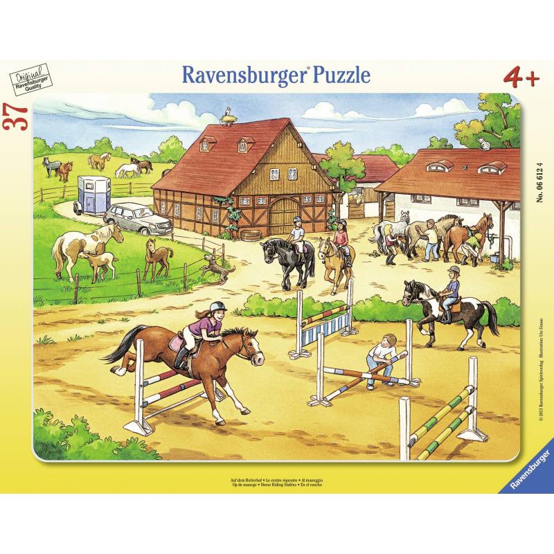 Пазл Верховая езда 37 деталейПазл Верховая езда маркиRavensburger.<br>Включает 37элементов.<br>Размер картинки: 32,5х24,5 см.<br><br>Возраст от: 4 года<br>Пол: Не указан<br>Артикул: 653651<br>Бренд: Германия<br>Размер: от 4 лет<br>Количество деталей: до 50<br>Тематика: Разное