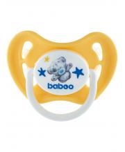 Соска-пустышка латекс круг желтая Me to you 6 мес BABOO