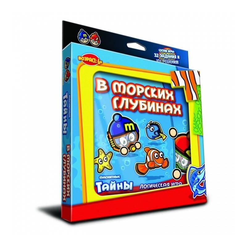 Магнитная игра В морских глубинахМагнитная игра В морских глубинах марки MACK&amp;ZACK.<br>Настольная играскрасит досуг ребенка, он весело проведет время как дома, так и в дороге. Благодаря магнитам игру удобно носить с собой, не теряя фигурок.<br>Логическая и увлекательная головоломка состоит из 32 заданий, которые предстоит решить. В процессе игры ребенок тренирует логику, память, учится принимать взвешенные решения, а также с увлечением будет проводить свободное время в кругу друзей и родных. Подробная инструкция поможет разобраться с правилами игры.<br>Комплектация:7магнитных пластинок,32задания, инструкция.<br>Рекомендовано для детей от 6 лет.<br>Размер:19,5х2,5х22,5см.<br><br>Возраст от: 6 лет<br>Пол: Не указан<br>Артикул: 658131<br>Бренд: Китай<br>Размер: от 6 лет