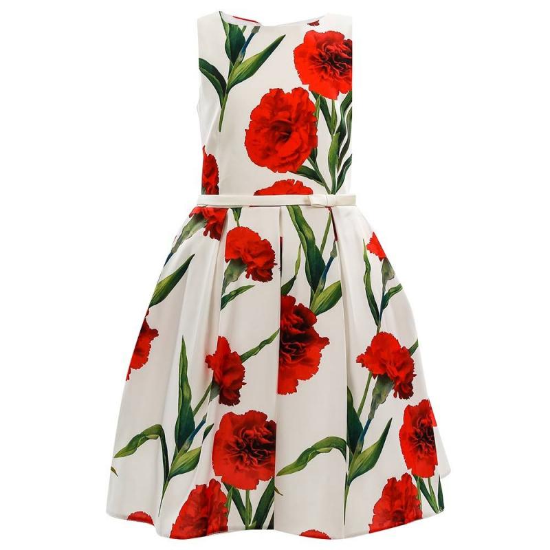 ПлатьеПлатье белогоцвета марки Fansy Way.<br>Праздничное атласноеплатье на широких бретеляхимеет пышнуюплиссированную юбку, дополнено подъюбником из фатина и хлопковой подкладкой. Платье декорировано принтом с изображениями ярко-красных гвоздик и элегантным поясом с бантиком на талии. Платье застегивается на потайную молнию и шнуровку на спинке.<br>Нарядное платье Fansy Wayстанет самым изысканным нарядом на любом празднике.<br><br>Размер: 7 лет<br>Цвет: Белый<br>Рост: 122<br>Пол: Для девочки<br>Артикул: 647758<br>Страна производитель: Россия<br>Сезон: Всесезонный<br>Состав: 100% Полиэстер<br>Состав подкладки: 100% Хлопок<br>Бренд: Россия<br>Вид застежки: Молния
