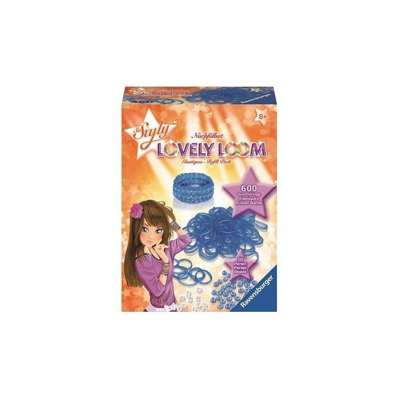 Набор резинок Lovely LoomНабор резинок для создания украшений Lovely Loom синегоцвета маркиRavensburger.<br>Оригинальный набор для плетения браслетов. Юные модницы могут применить всю свою фантазию и воображение, создавая стильное украшение. С таким набором девочки без труда смогут развивать свои творческие способности, весело и с пользой проводя время.<br>В комплекте: 600 резинок, 50 бусин, 24 застежки.<br><br>Цвет: Синий<br>Возраст от: 8 лет<br>Пол: Для девочки<br>Артикул: 654036<br>Бренд: Германия<br>Размер: от 8 лет