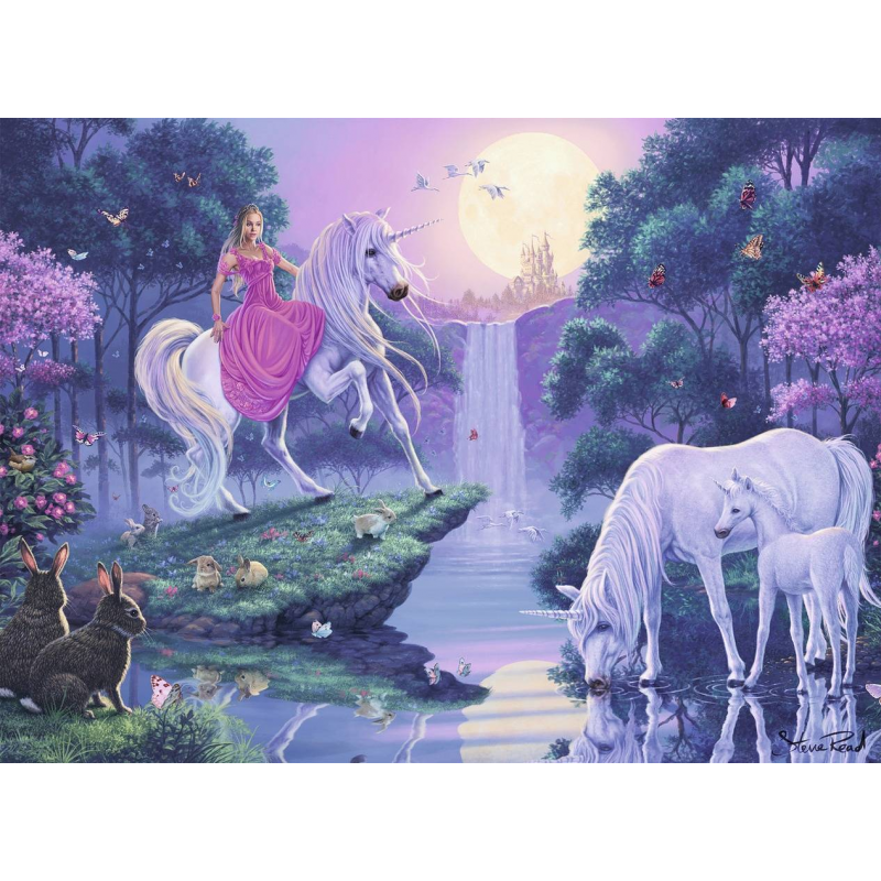 RAVENSBURGER Пазл Единороги в лунном свете 500 деталей famosa nancy
