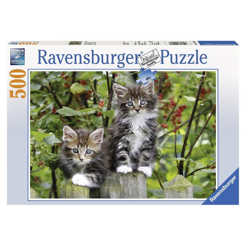 Пазл Котята на заборе 500 деталейПазл Котята на заборе марки Ravensburger для девочек.<br>Яркий пазл из 500 элементов с изображением милых котят.<br><br>Возраст от: 12 лет<br>Пол: Для девочки<br>Артикул: 653847<br>Бренд: Германия<br>Размер: от 12 лет<br>Количество деталей: до 50<br>Тематика: Животные
