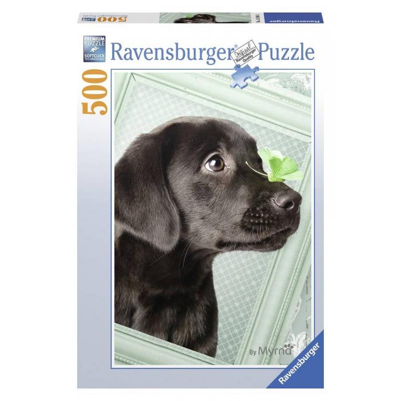 RAVENSBURGER Пазл Счастливый щенок 500 деталей