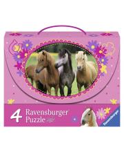 Пазл 4-в-1 Красивые лошади