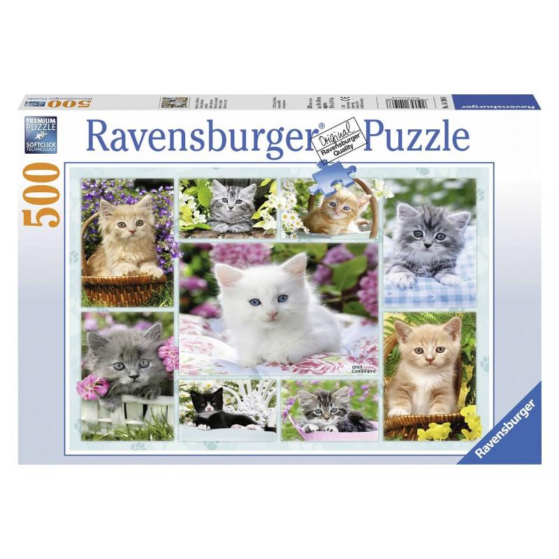цены RAVENSBURGER Пазл Галерея котят 500 деталей
