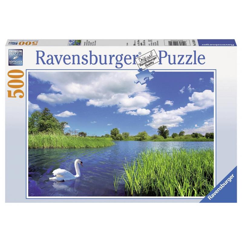 RAVENSBURGER Пазл Лебедь на пруду 500 деталей ravensburger пазл кафе в старом городе 500 деталей