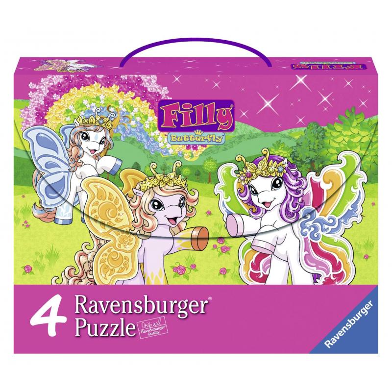RAVENSBURGER Пазл 4-в-1 Филли Бабочки 290 деталей ravensburger ravensburger набор для творчества mandala designer балерины