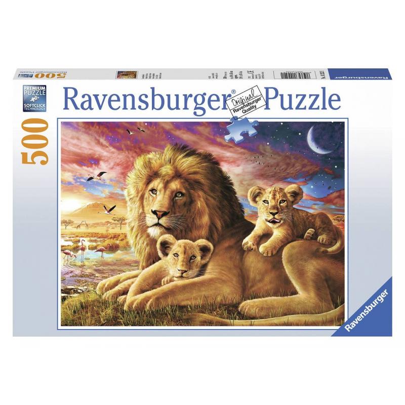RAVENSBURGER Пазл Семейство львов 500 деталей