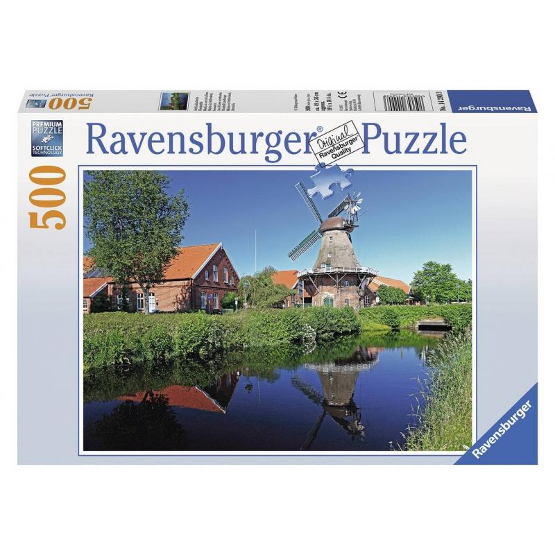 RAVENSBURGER Пазл Ветряная мельница 500 деталей ravensburger пазл кафе в старом городе 500 деталей