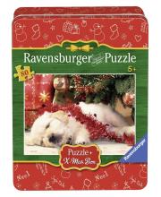 Пазл Рождественский щенок