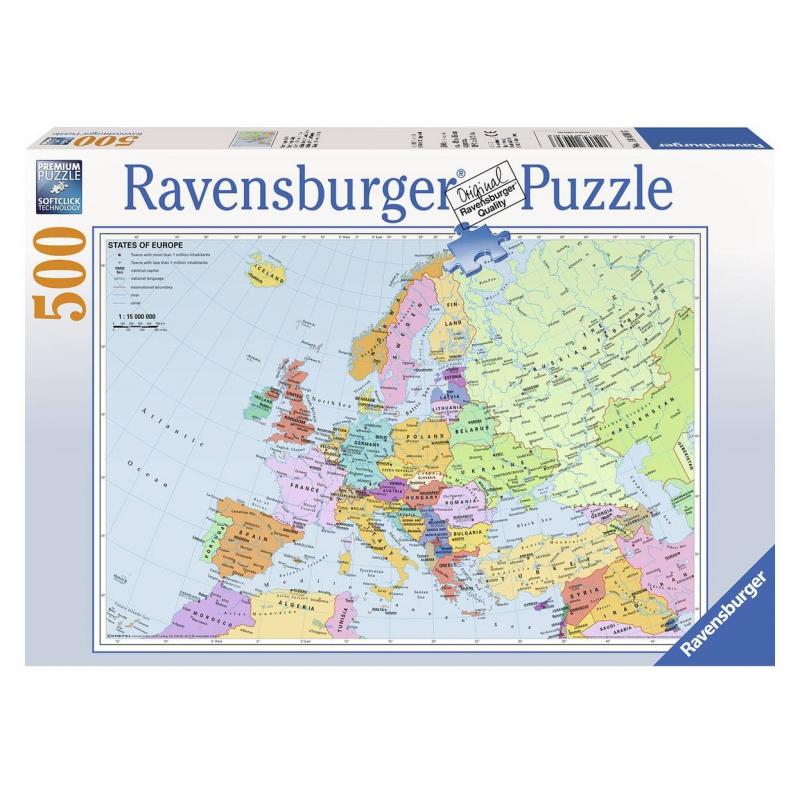 Пазл Политическая карта Европы 500 деталей