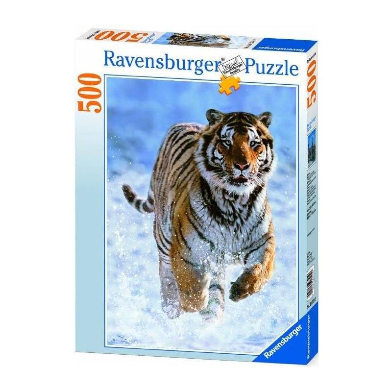 RAVENSBURGER Пазл Тигр на снегу 500 деталей ravensburger пазл галопом по снегу 500 деталей