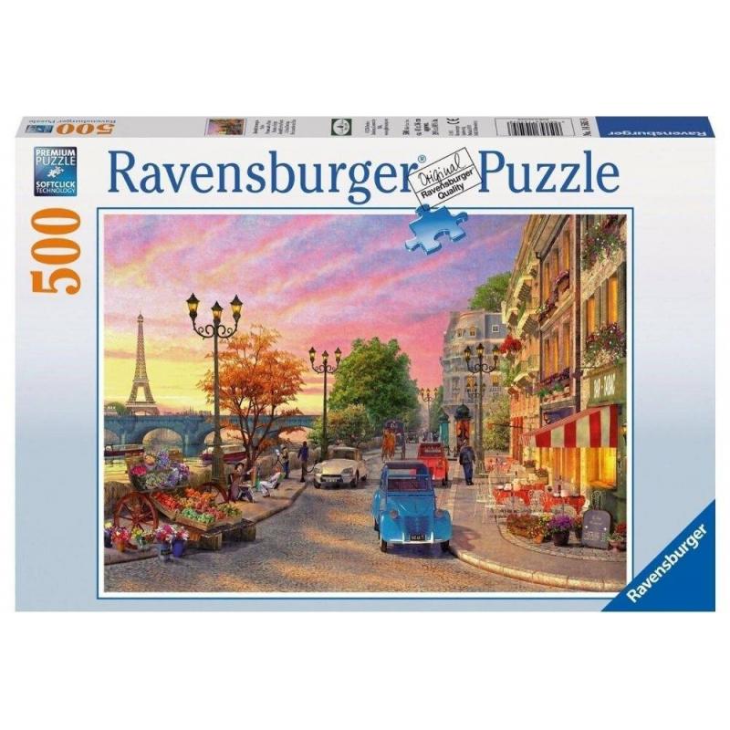 RAVENSBURGER Пазл Вечер в Париже 500 деталей пазл ravensburger вечер в париже 500 элементов 14505