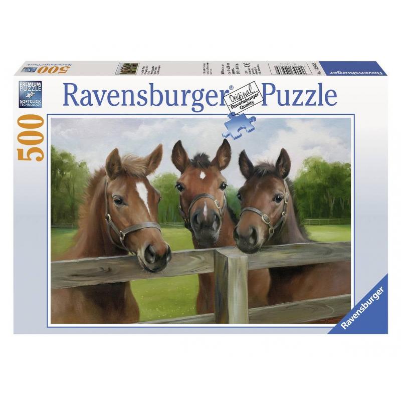 RAVENSBURGER Пазл Три лошади 500 деталей