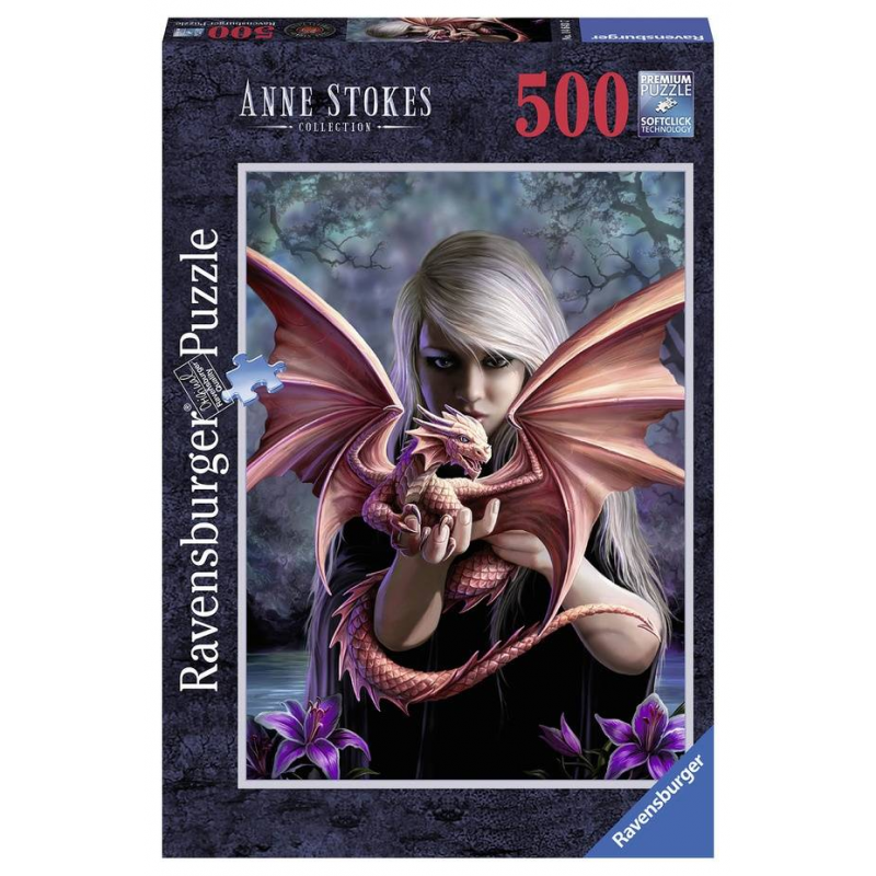 RAVENSBURGER Пазл Девушка с драконом 500 деталей оловянная миниатюра девушка воин фэнтези