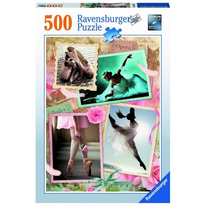 Пазл Прима-балерина 500 деталейПазл Прима-балерина марки Ravensburger для девочек.<br>Яркий пазл из 500 элементов с изображениями балерин.<br><br>Возраст от: 9 лет<br>Пол: Для девочки<br>Артикул: 653873<br>Бренд: Германия<br>Размер: от 9 лет<br>Количество деталей: от 301 до 500<br>Тематика: Разное