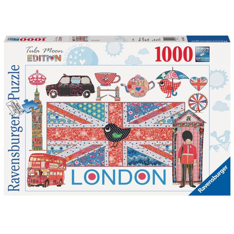 RAVENSBURGER Пазл Тула Мун-Лондон 1000 деталей ravensburger тула мун эйфелева башня 12567