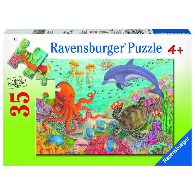 RAVENSBURGER Пазл Океан друзей 35 деталей пазл 200 элементов ravensburger мой первый питомец 12810