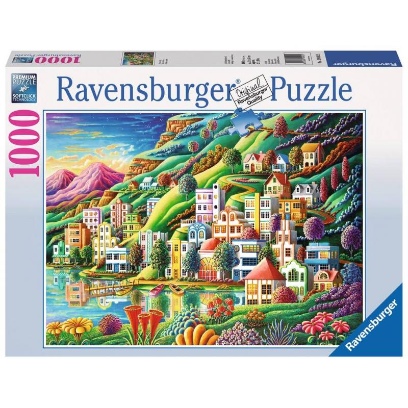 RAVENSBURGER Пазл Волшебный город 1000 деталей пазлы ravensburger пазл волшебный книжный шкаф xxl 18000 элементов