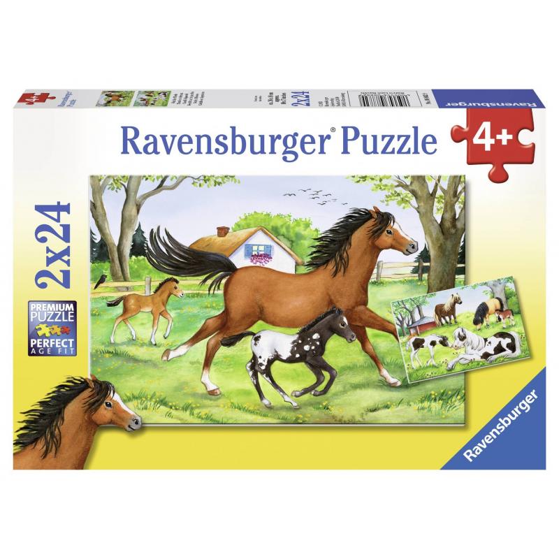 Пазл Мир лошадей 2 шт по 24 детали