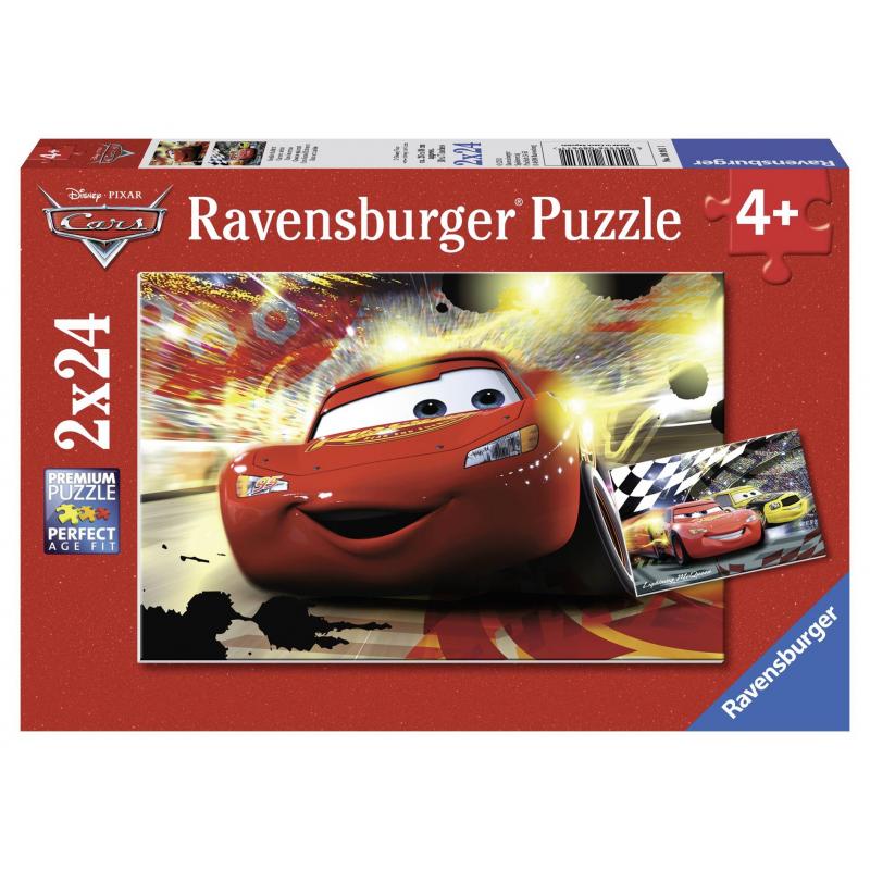 RAVENSBURGER Пазл Тачки. Главный заезд 2 шт по 24 детали 3d пазл ravensburger неоновые тачки 108 элементов 122509