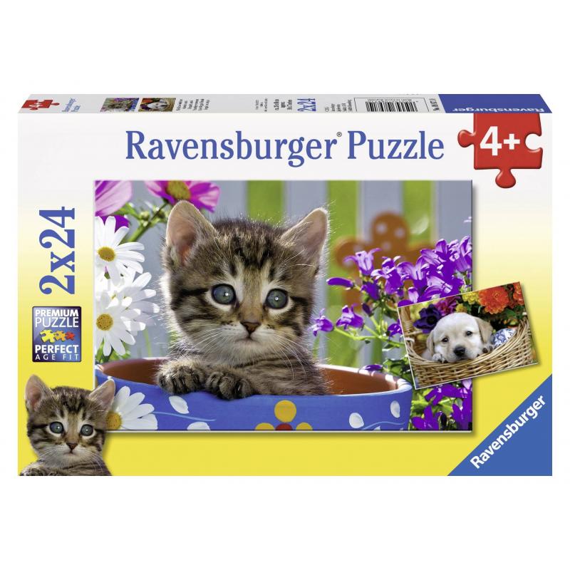 RAVENSBURGER Пазл Милые друзья 2 шт по 24 детали азбукварик золушка и другие сказки говорящие сказки