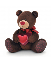 Мягкая игрушка Мишка Choco с сердцем 15 см Orange Toys