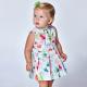 Девочки, Платье с поясом MAYORAL (зеленый)518379, фото 4