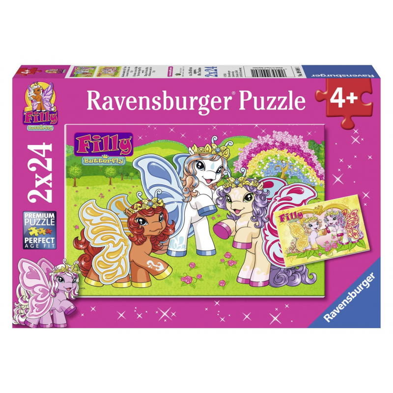 RAVENSBURGER Пазл Филли 2 шт по 24 детали ravensburger ravensburger набор для творчества mandala designer балерины