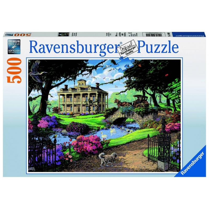 RAVENSBURGER Пазл Посещение особняка 500 деталей ravensburger пазл кафе в старом городе 500 деталей