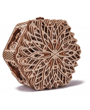 Механическая шкатулка из дерева Таинственный цветок Wood Trick