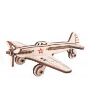 Конструкт деревянный 3D Самолет Бомбардировщик Армия России
