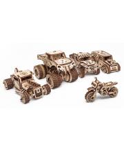 Сборные модели из дерева 3D Набор машинок 5 в 1 Eco Wood Art