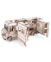 Конструктор 3D деревянный Пикник Домик для кукол на колесах Lemmo