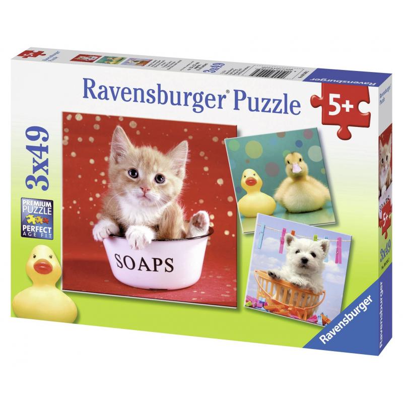 RAVENSBURGER Пазл Забавные животные 3 шт по 49 деталей