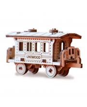 Деревянный конструктор Пассажирский вагон UNIWOOD