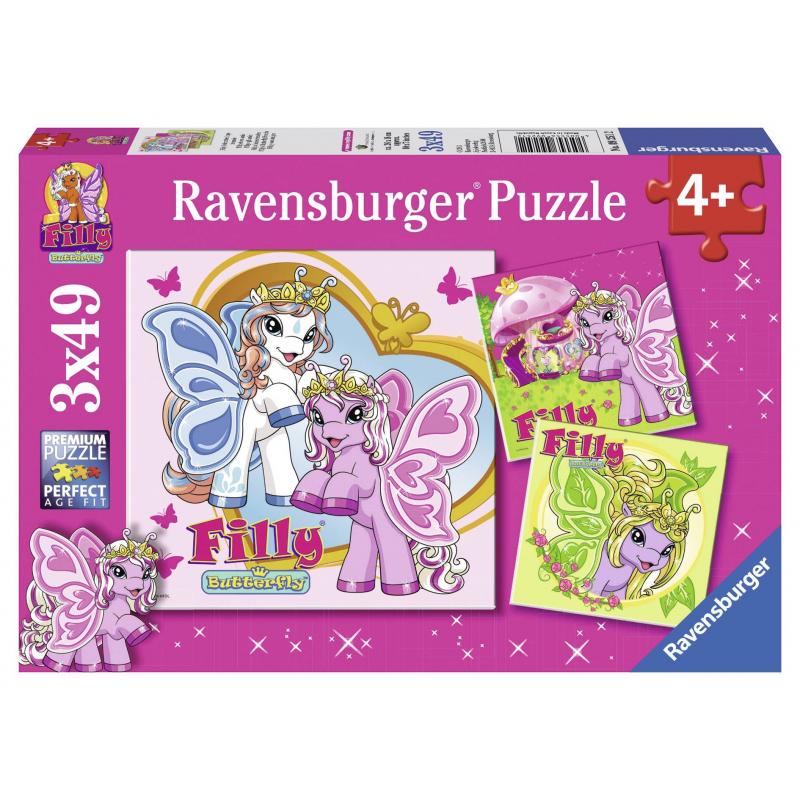 RAVENSBURGER Пазл Филли 3 шт по 49 деталей ravensburger ravensburger набор для творчества mandala designer балерины